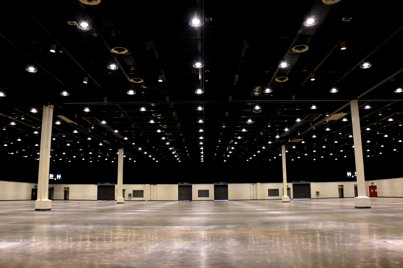 Interior of World Trade Center's exhibition hall