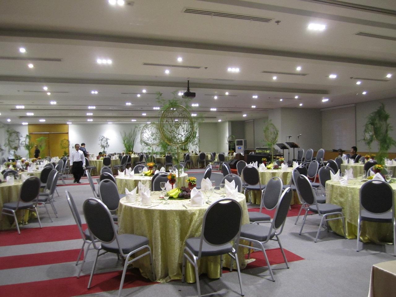 A wedding reception venue