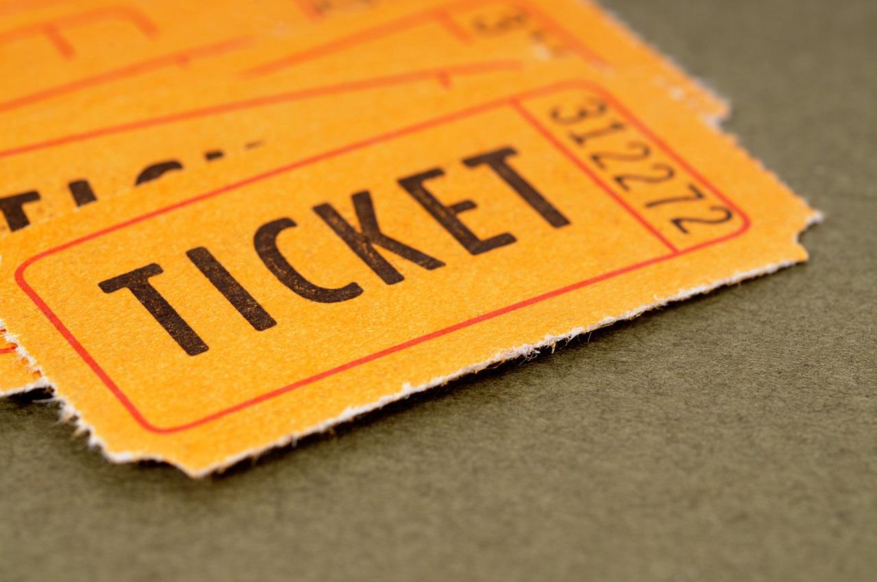 Orange raffle tickets
