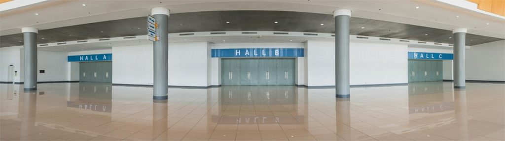 Different exhibition halls of world trade center Manila